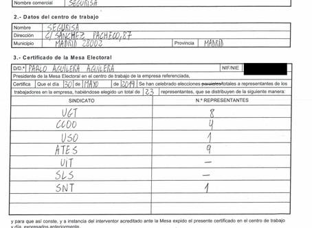 AGRADECIMIENTOS ELECCIONES EN SEGURISA 30/05/2019