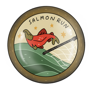 Salmon Run Badge