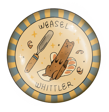Weasel Whittler Badge