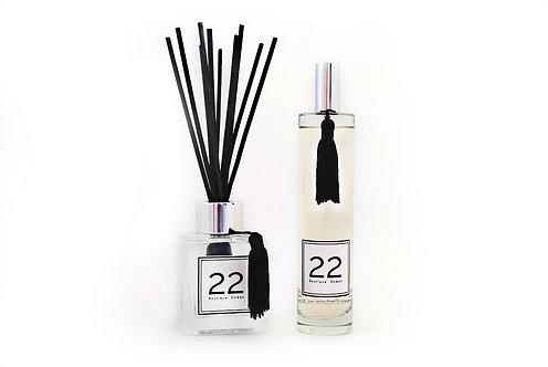 """DUO """"22""""  Bouquet + Parfum  -  Avec Coffret et Pochon velours"""