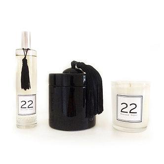 Boîte Laquée, Parfum 22 et Bougie 22