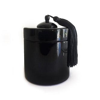 Boîte Ronde Laquée Noire