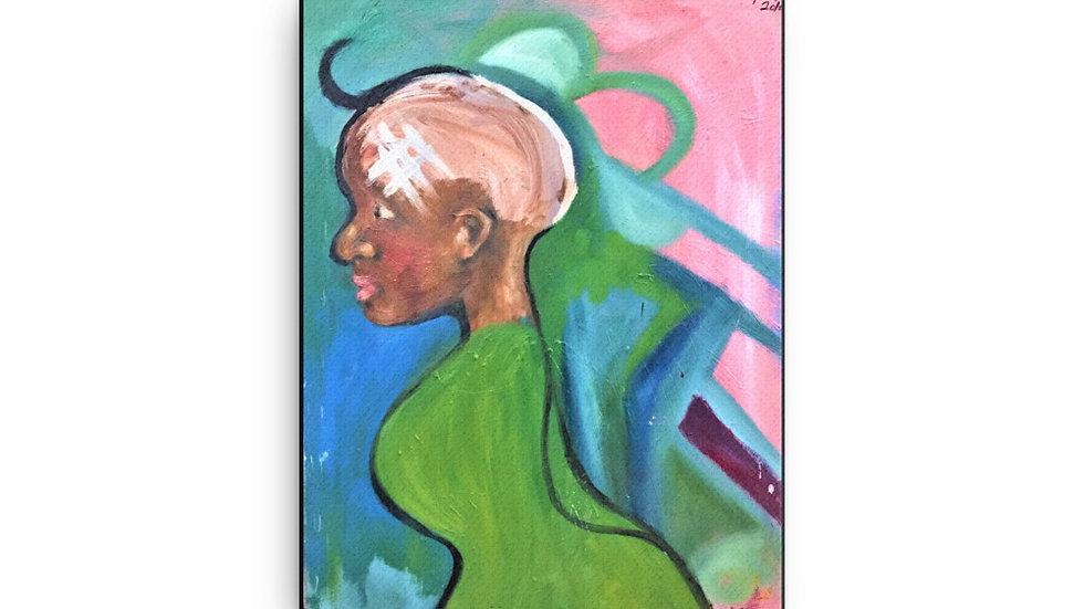 Senseless Girl Canvas Print