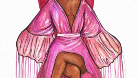 Pink Robe [with frame]