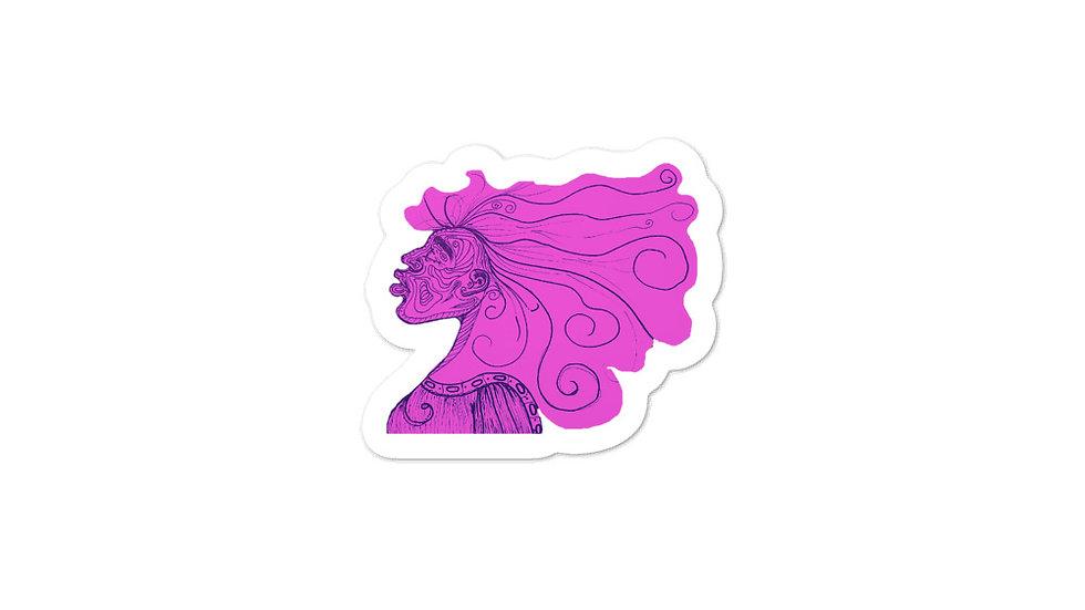 Purple-Pink Wind Goddess Stickers
