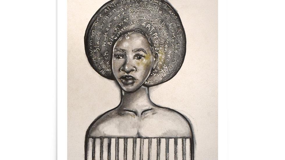 Black Women are Art Paper Print