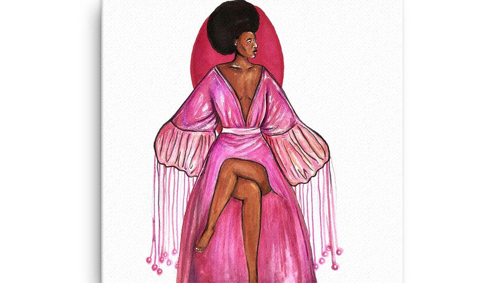 Pink Robe Canvas Print