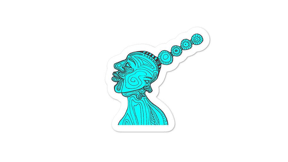 Turquoise Gemini Twins Stickers