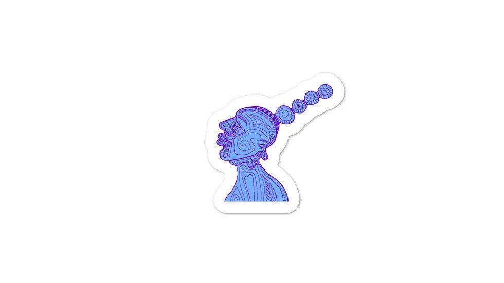 Blue Gemini Twins Stickers