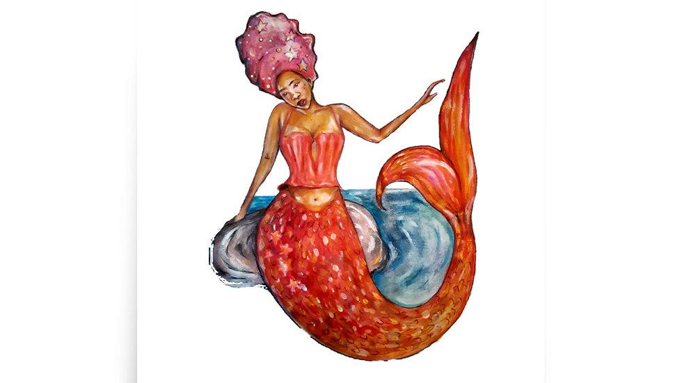 Black Mermaid poster print