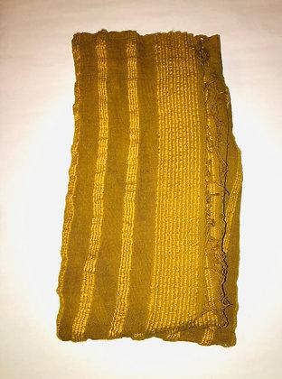 """Ethiopian Cotton Scarf """"Brown Sugar"""""""