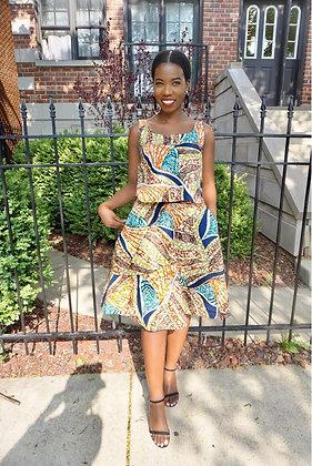 "Classic A Line Skirt "" Ruaha Print"""