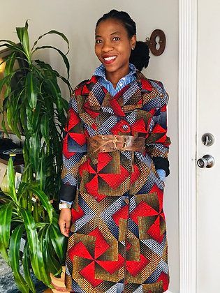 African Print Trench