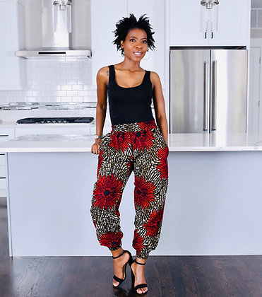 "Tulia Jogger Pants ""The Flower Power Print"""