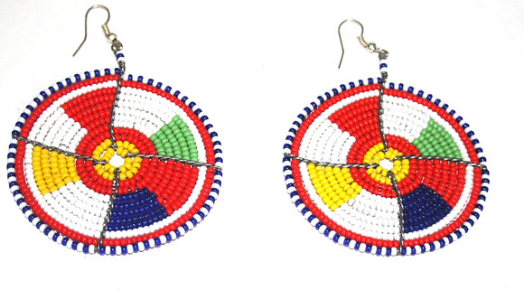 Multi Color Blocked Beaded