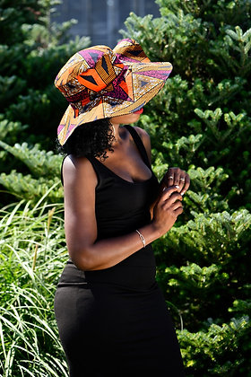 African print hat