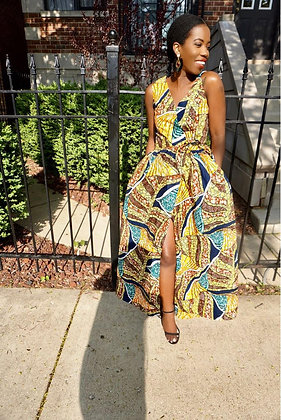 The Diva Dress-Ruaha Print