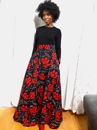 The Classic Maxi Skirt: My lady print