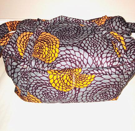 African Print Duffel Bag