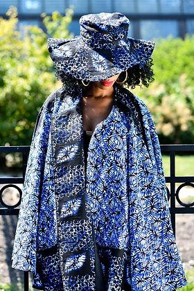 "African print hat ""Indigo print"""