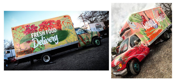 Mobile Market Food Truck Murals