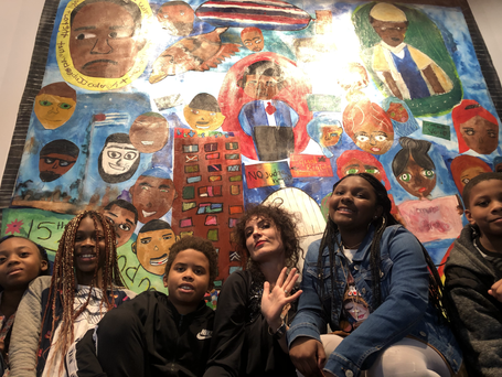 Student Mural for Banneker-Douglass Museum Opening in Annapolis, MD