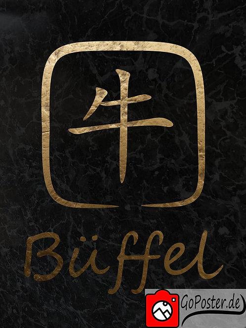 Büffel - Chinesisches Sternzeichen (Poster)