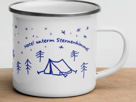Emaillierte Tassen für Outdoor Abenteuer