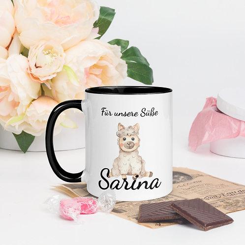 Tasse für die Tochter mit Schaf bedruckt (Personalisierbar)