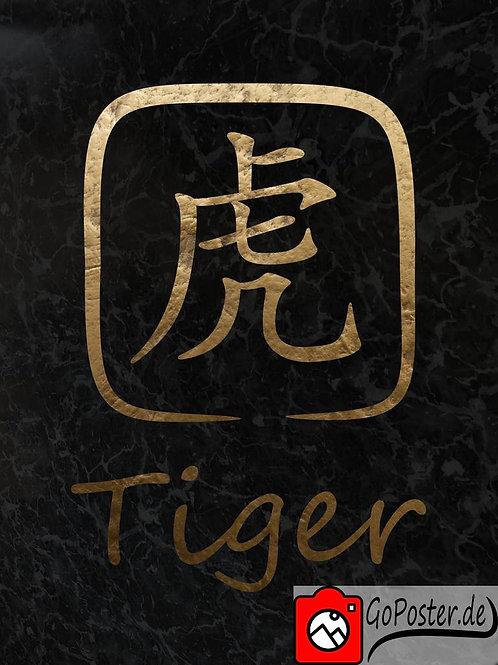 Tiger - Chinesisches Sternzeichen (Poster)
