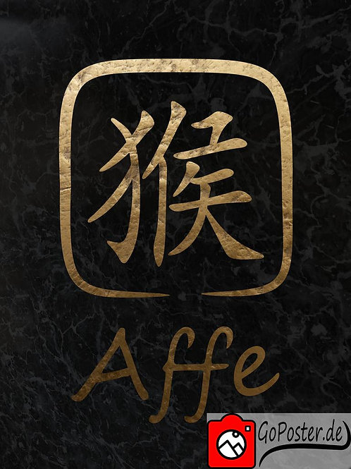 Affe - Chinesisches Sternzeichen (Poster)