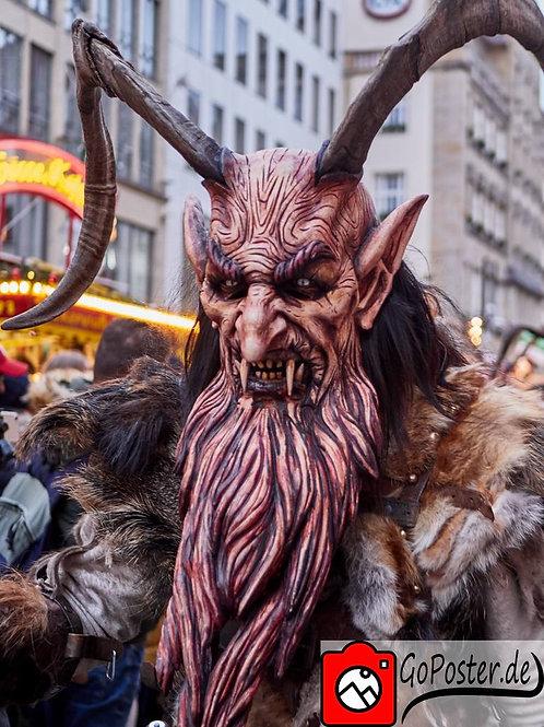 Krampus mit wunderschöner Holzmaske