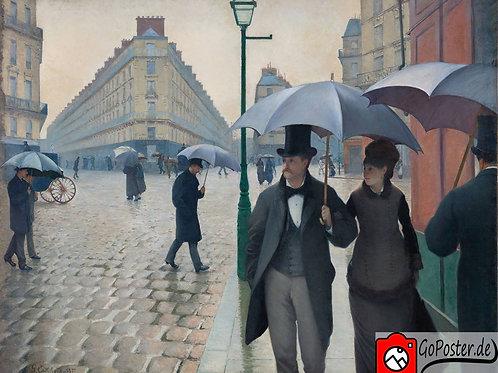 Gustave Caillebotte - Straße in Paris an einem regnerischen Tag (Leinwand)