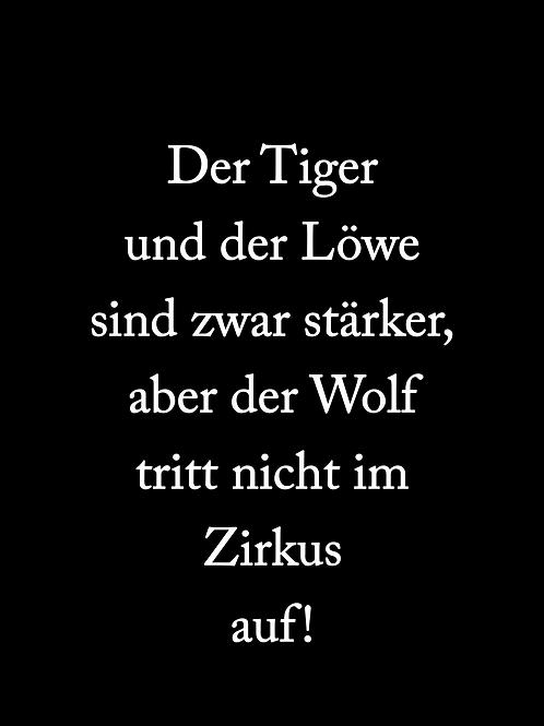 Der Wolf tritt nicht im Zirkus auf (Sticker)