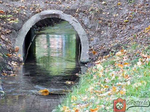 Wasser unter der Brücke (Poster)