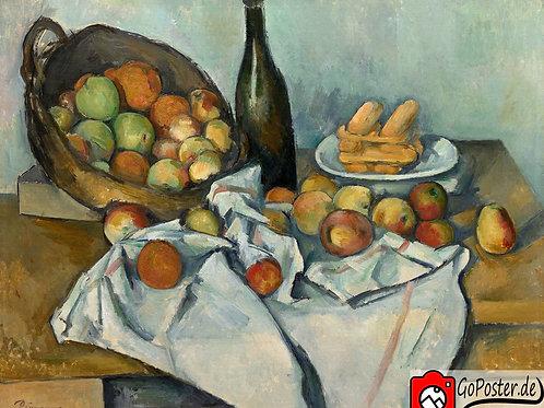 Paul Cézanne - Stilleben mit Apfelkorb (Leinwand)