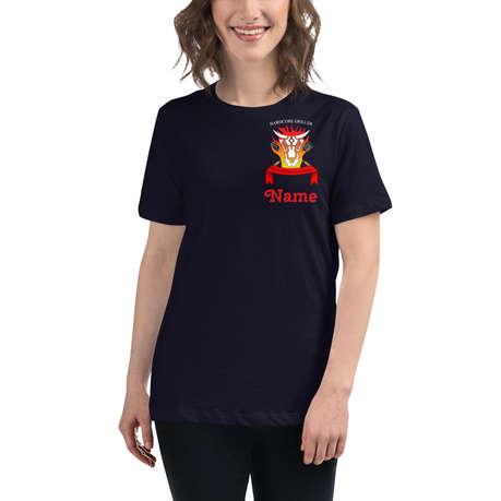 Hardcore Griller T-Shirt Damen Navy Blue
