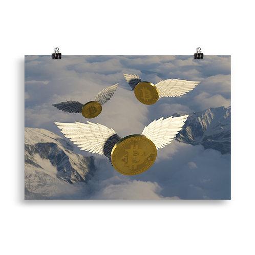 Bitcoin im Anflug (Poster)