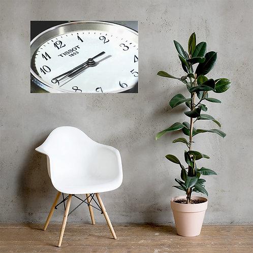 Makroaufnahme Uhr (Poster)