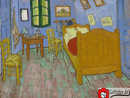 Vincent van Gogh - Schlafzimmer in Arles (Leinwand)
