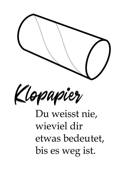 Klopapier (Poster)