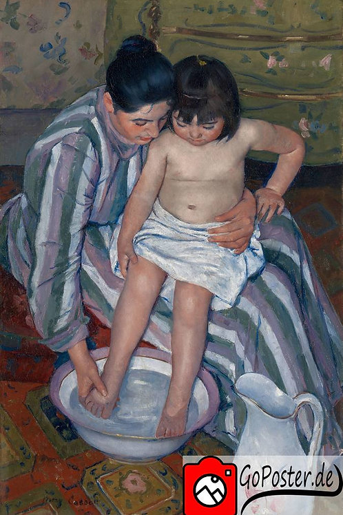 Mary Cassatt - Das Bad (Leinwand)