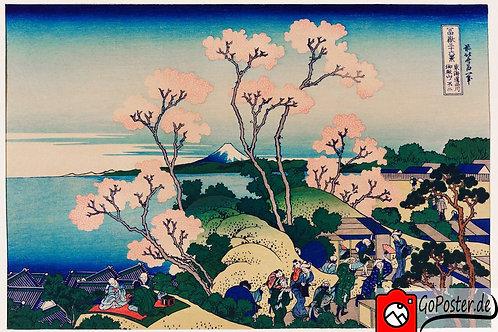 Japanische Zeichnung von Kirschblüten