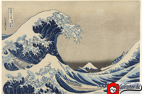Katsushika Hokusai - Die große Welle vor Kanagawa (Leinwand)