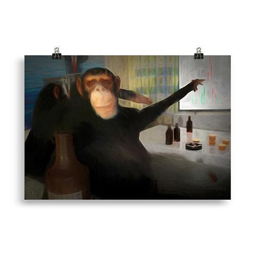 Affen gemeinsam Stark (Poster)