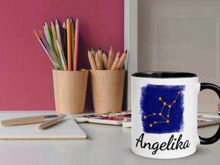 Geschenk Schatzkiste - Personalisierte Tassen mit Sternzeichen