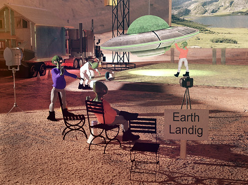 How the Earth Landing was faked (Poster)