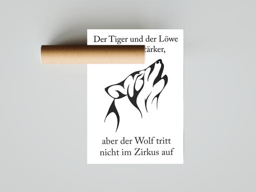 Der Wolf tritt nicht im Zirkus auf (Poster)