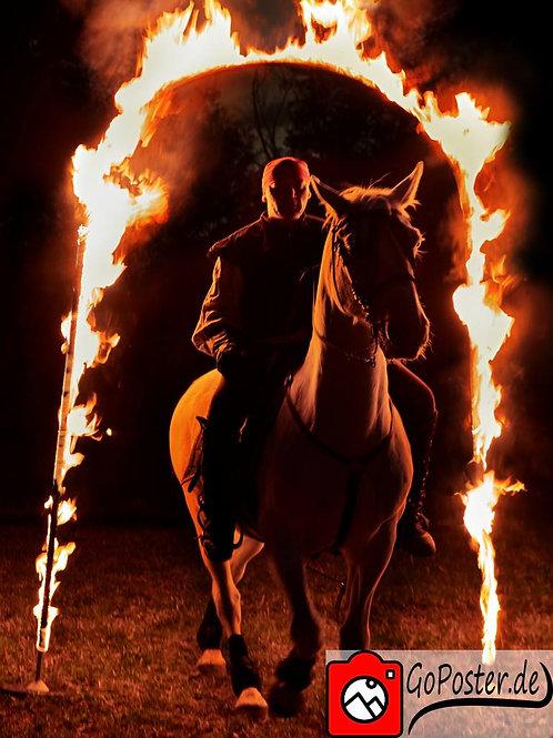 Reiter durchs Feuer (Poster)