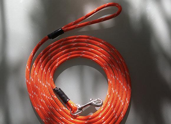 "Dog Leash 6 Foot, Orange Marine Grade 3/8"" Line, Stainless Steel Hardware"